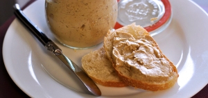 creamy foie gras butter served with a warm baguette