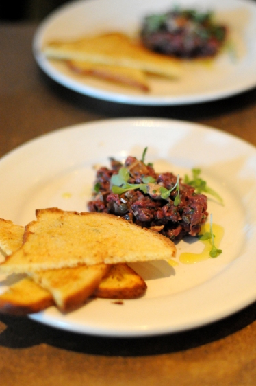 Chef Chris Cosentino's Veniosn Tartare.