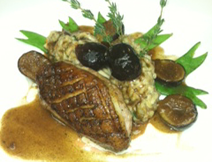 Roast D'Artagnan Duck Breast, Duck Leg Confit, Shiitake Risotto ...