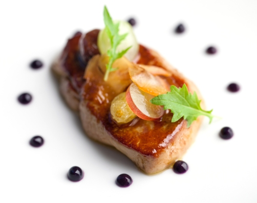 Our foie gras in Chef Anthony Martin's beautiful dish.