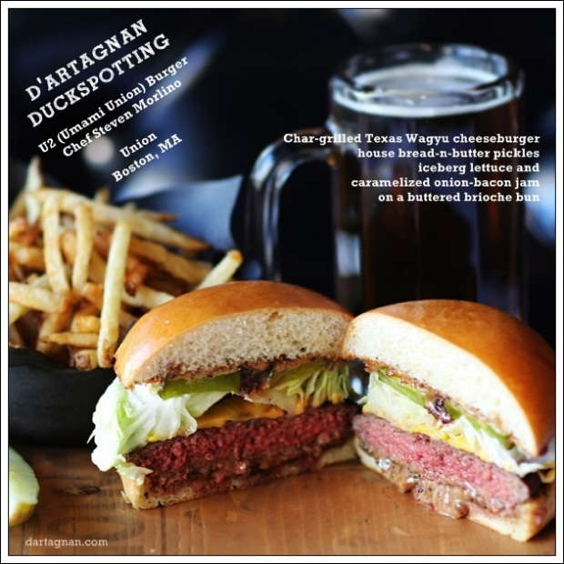 The U2 Burger at Union Bar and Grille