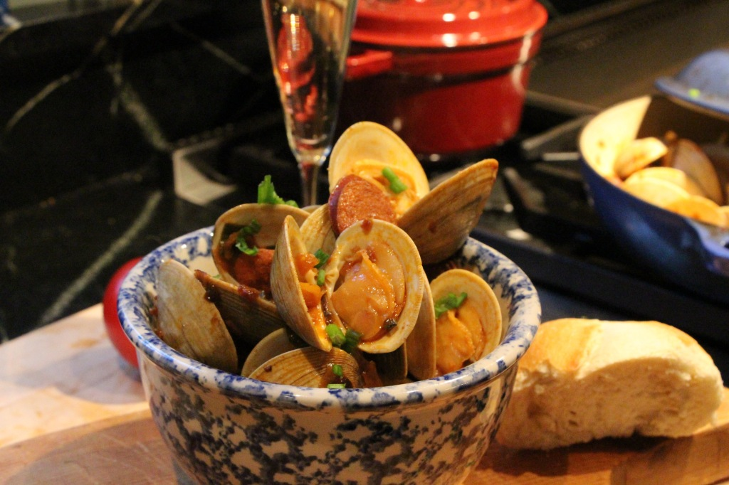 Clams & chorizo 4