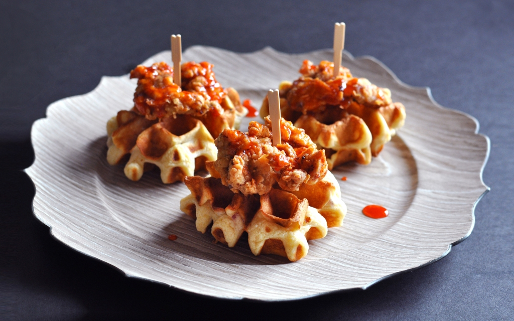 chicken & waffles recipe preview