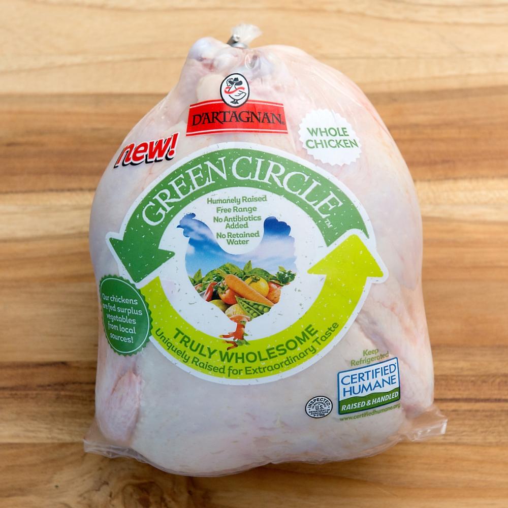 D'Artagnan Green Circle Chicken in Package