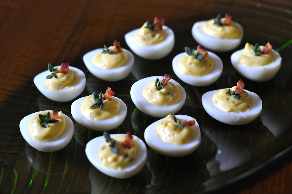 deviled-quail-eggs-with-bacon-and-thyme-recipe
