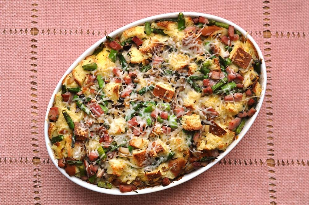 ham-asparagus-mushroom-strata-recipe