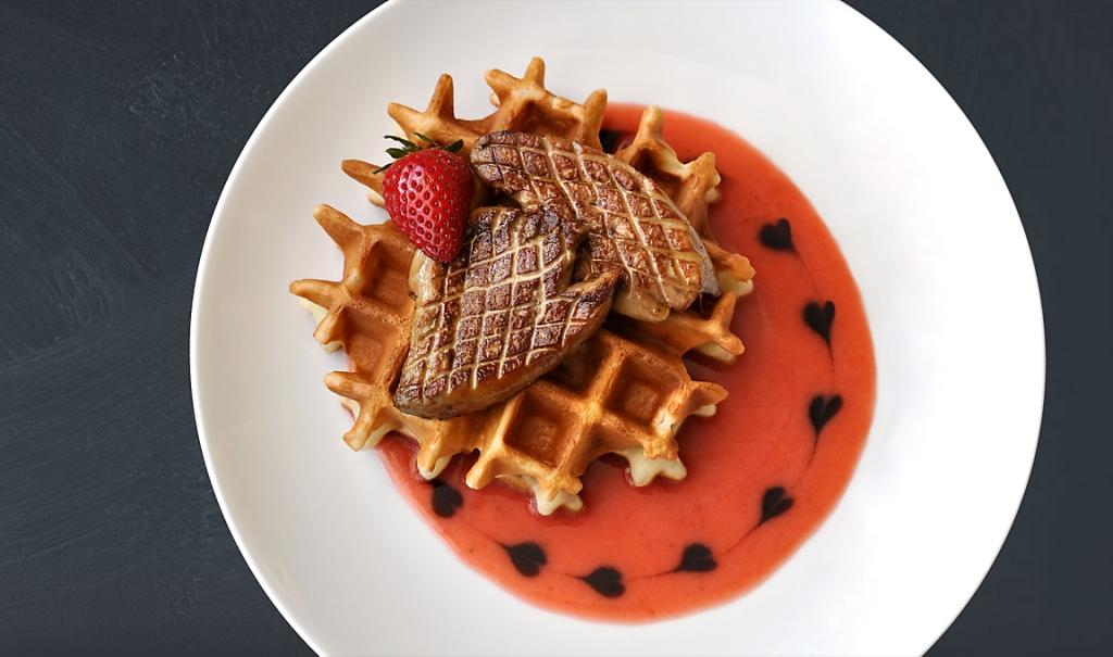 foie-gras-strawberry-waffles-recipe