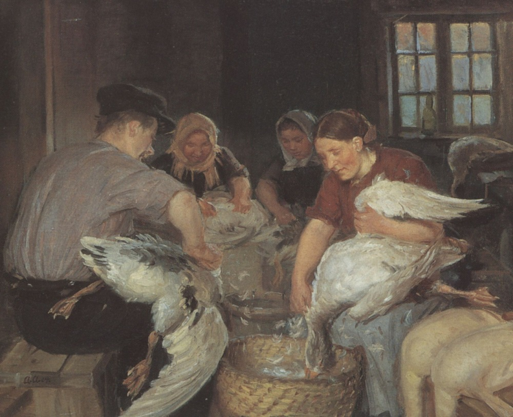 anna-ancher-plucking-the-christmas-goose-1904