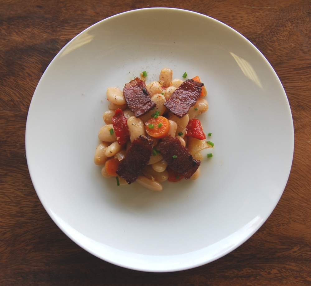 Coco Tarbais Bean Salad with Duck Bacon.jpg