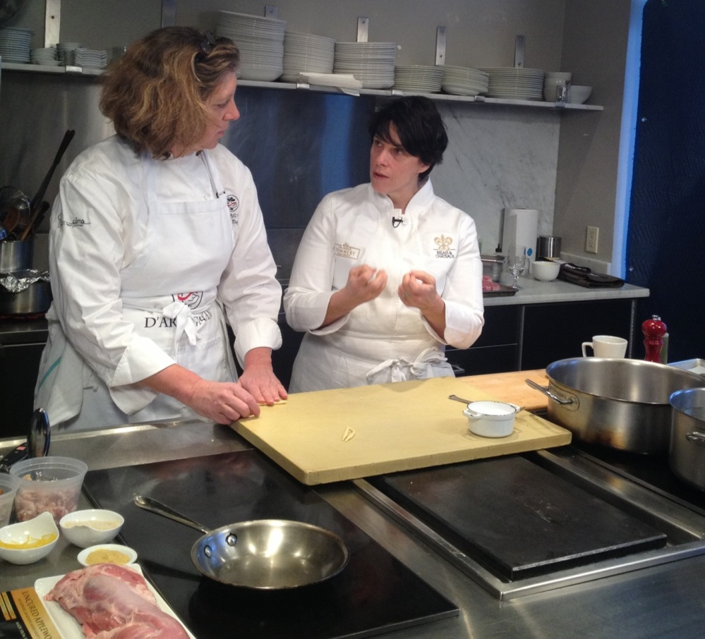 Ariane cooking with Barbara Lynch
