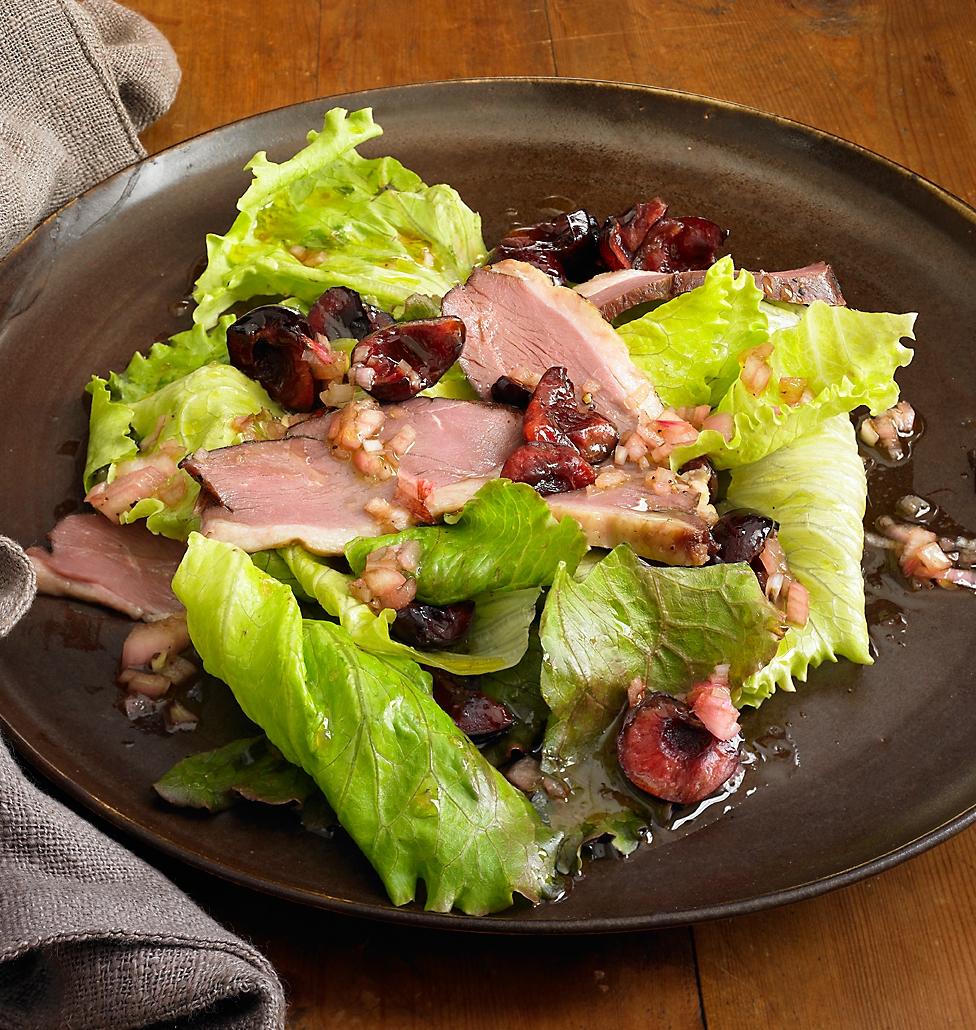 smoked-duck-and-cherry-salad-recipe