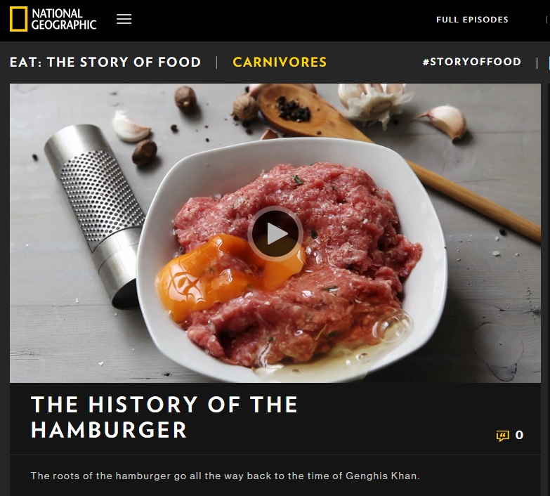National Geographic History of the Hamburger