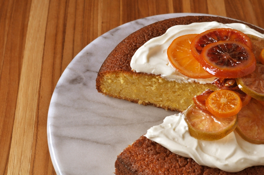 olive oil cake cut section